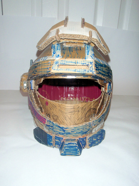 how to make a cardboard halo helmet