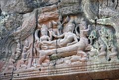 Vishnu couché (Preah Khan, Angkor)