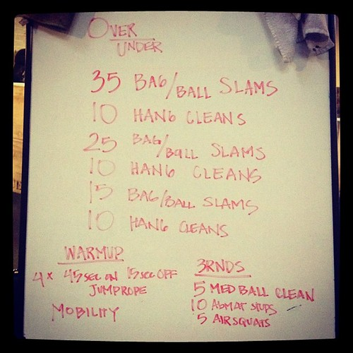 As if all the air squats yesterday weren't enough... squat cleans this morning. #wod #crossfit