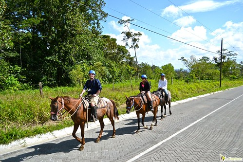 horseback ride to waterfalls in la fortuna arenal costa rica