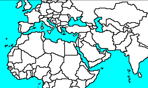 Middle East And North Africa Map Blank I0 1 Blank Middle Flickr