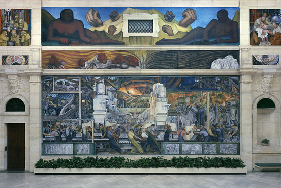 Diego rivera detroit industry mural 1932 33 the north for Detroit rivera mural