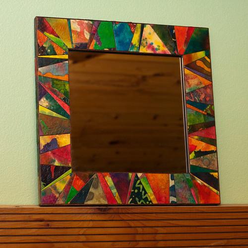Handmade Paper Framed Mirror