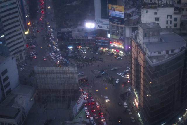 Roadway at Dusk, Dhaka
