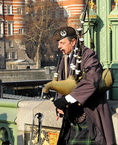 Bagpipes on the River Thames
