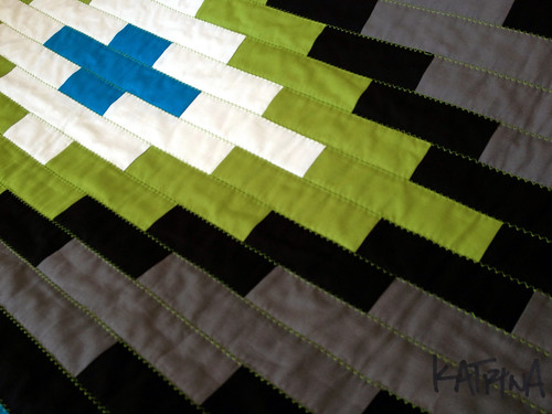 Rug Quilt: Close up of quilting