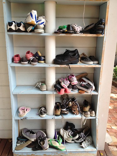 Decluttering - Shoes before