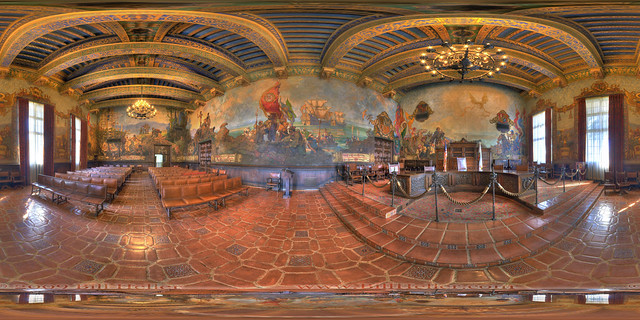 Santa barbara county courthouse mural room flickr for Mural room santa barbara
