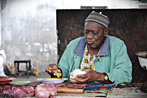 Elderly Man in the Market