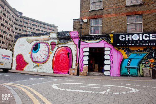 London Street artist Sweet TooF Mural in London. Photo ©Hookedblog / Mark Rigney