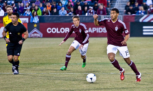 Rapids vs. Crew 2012 Andre Akpan and Wells Thompson by CE's Photography