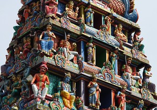 Gopuram (tower) of Sri Mariamman Temple, Singapore