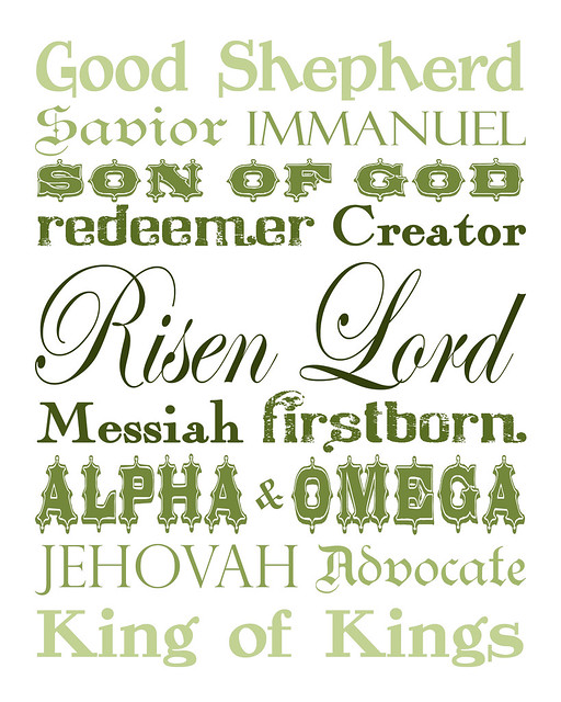 Names of Christ - green