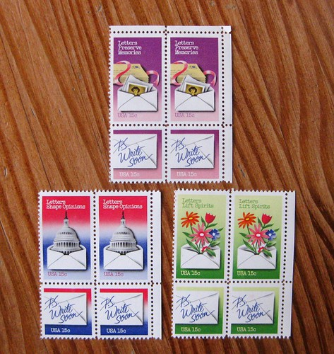 Vintage 1980 Letter Writing stamps