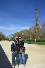 chuck and me and the eiffel tower