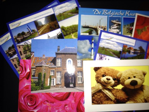 Postcards send on April 11th, 2012 for Postcrossing by FaeSarah