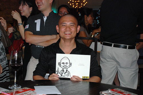 caricature live sketching for DVB Christmas party - 9