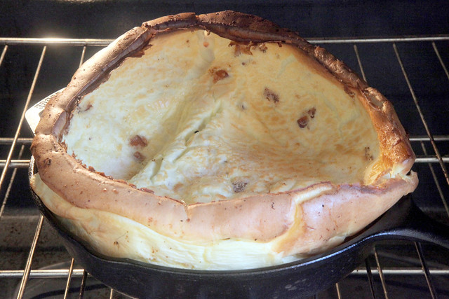 Dutch Baby in the Oven. PUFFY!