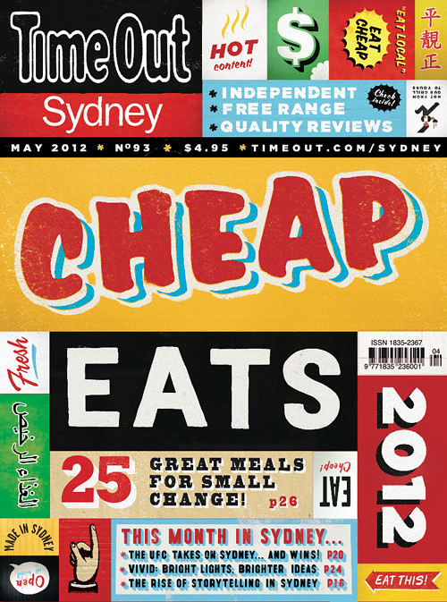 time out sydney cheap eats 2012 issue cover