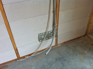 Conduit in walls for power and data