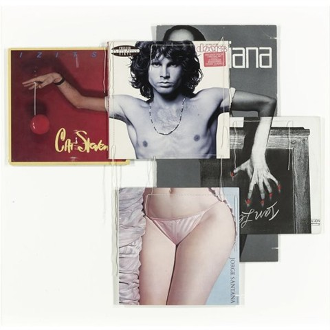 Christian Marclay, Doorsiana (from the body mix series), record covers and thread, 1991