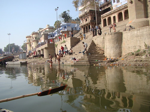 Varanasi India ~ On the Ghats by Vasenka