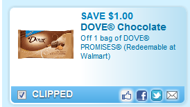 $1.00 Off One Bag Of Dove Promises Coupon