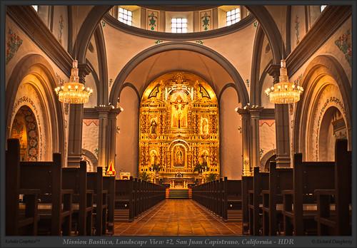 california history church architecture basilica sanjuan mission capistrano hdr