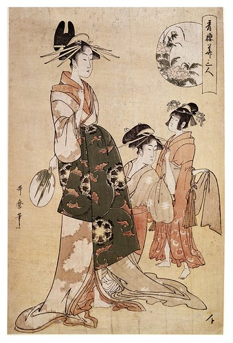 023-Una cortesana con sus aprendizas-Kitagawa Utamaro- © The Trustees of the British Museum