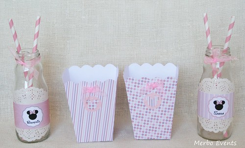 Cajitas palomitas Kit imprimible minnie Mouse Merbo Events