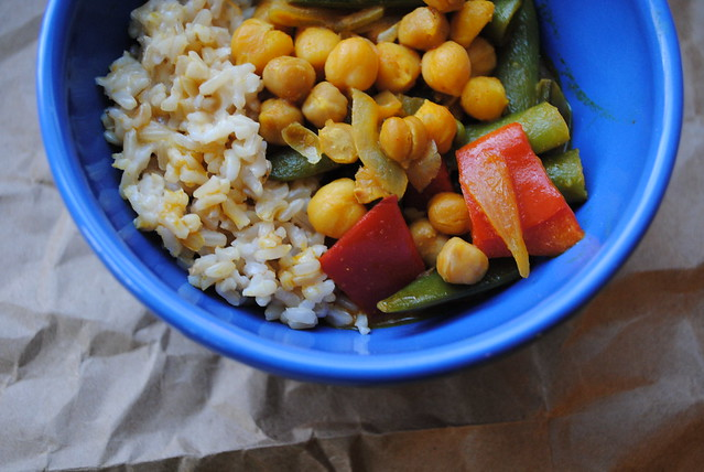 Chickpea Curry with Coconut Brown Rice