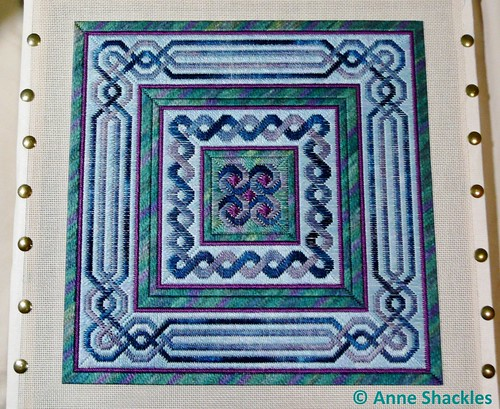 From Nancy's Needle-Lavender Blue Celtic Knot Quilt