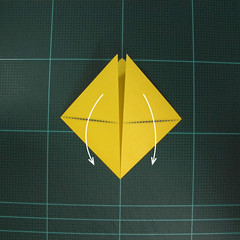 วิธีพับกระดาษเป็นรูปจั้กจั่น (Origami Cicada) 003