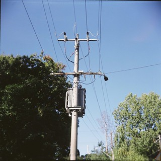 Telephone or power line, not sure which
