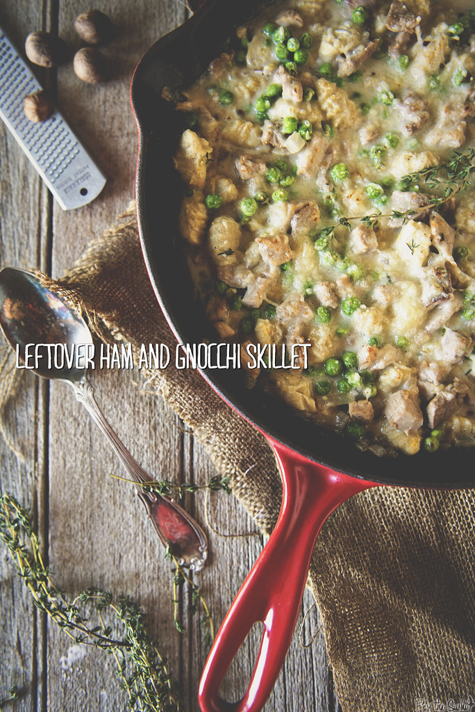 Leftover Ham and Gnocchi Skillet \\ GirlCarnivore.com