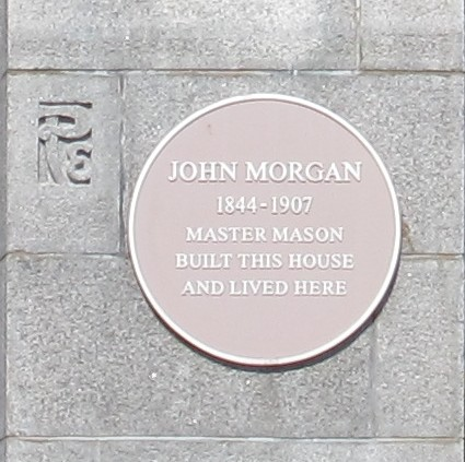 Photo of John Morgan yellow plaque