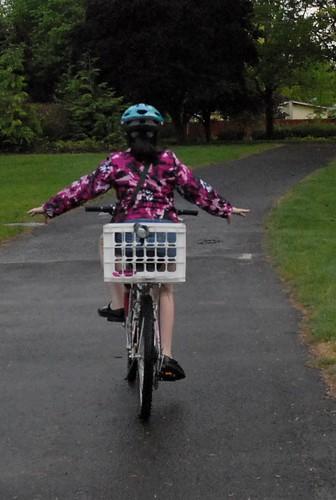 Biking with no hands