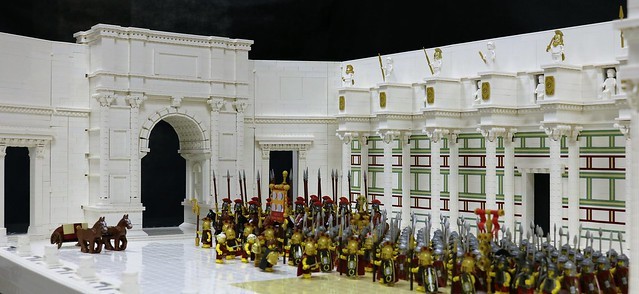 Incredible Lego Roman Temple Of Minerva With Parading
