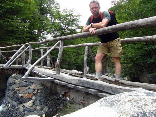 Bridge on the path to Torres del Paine