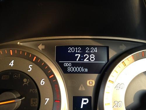 朝の80000