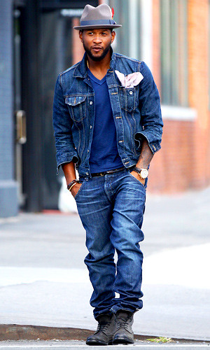 Usher Jeans Outfit