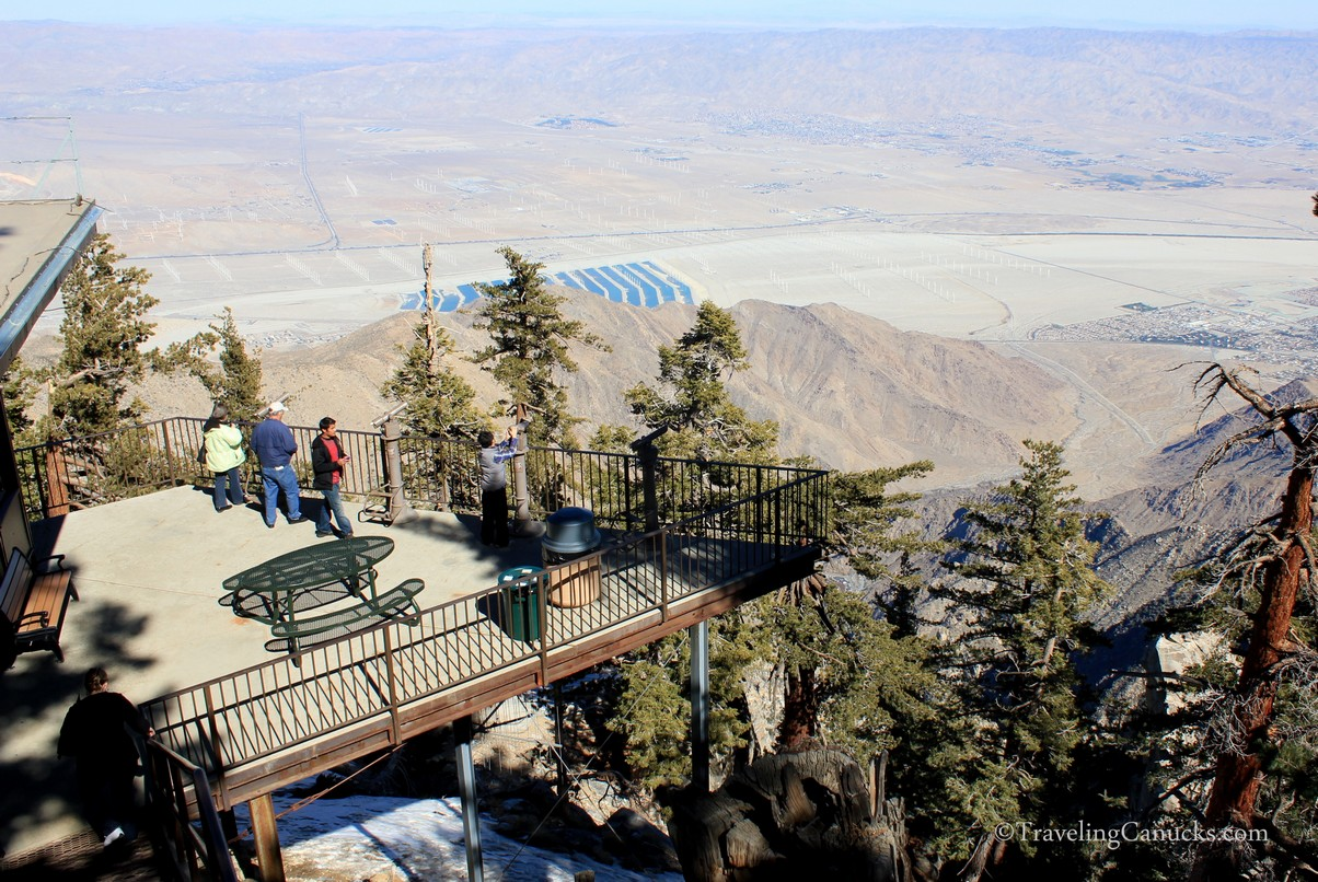 Lookout point at Palm Springs Aerial Tramway