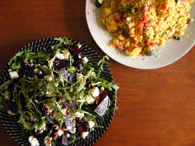 Cous cous and salad