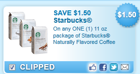 Starbucks Naturally Flavored Coffee  Coupon