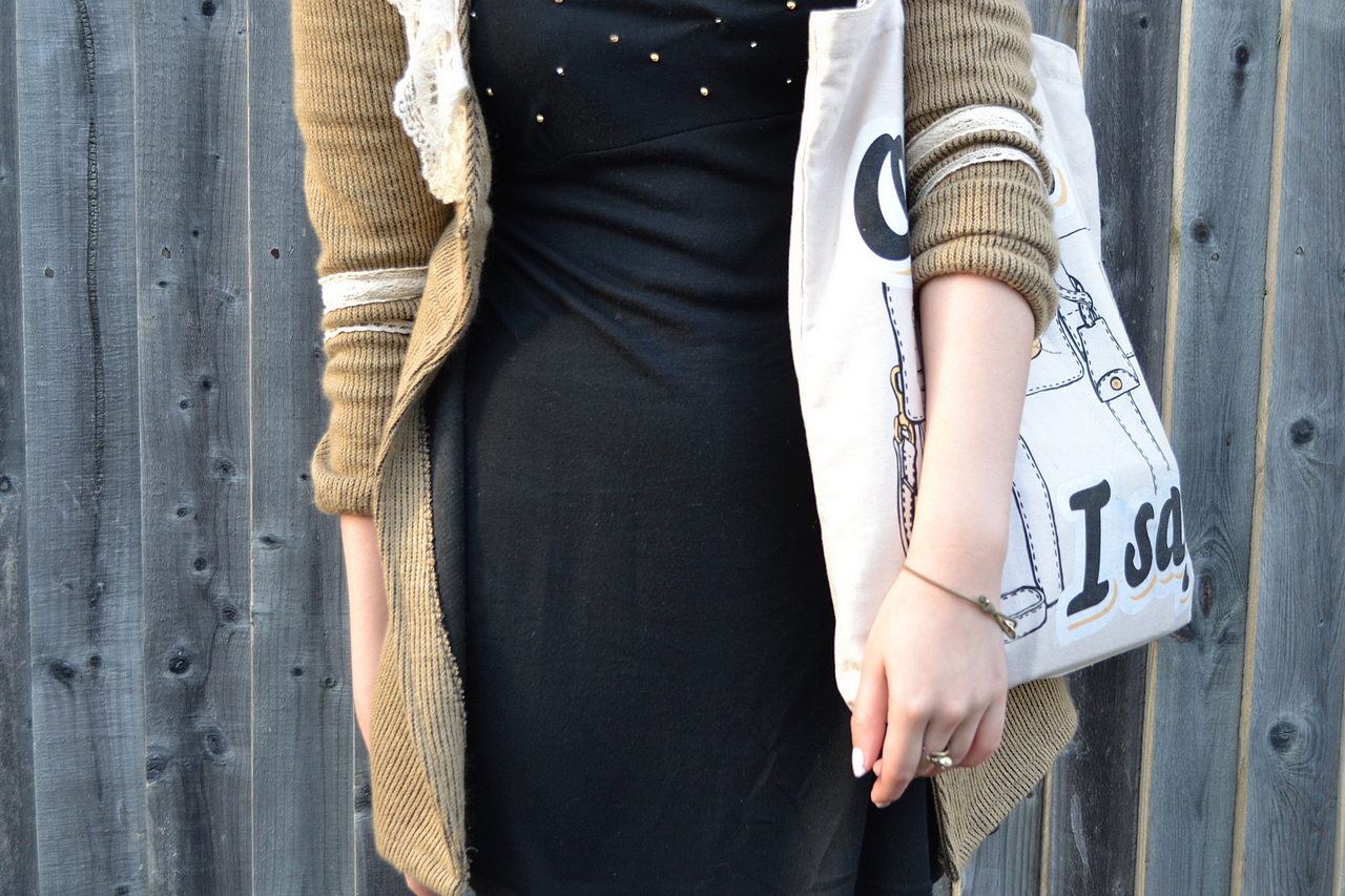 daisybutter - UK Style Blog: what i wore, fashion blogger, outfit, little black dress, asos aggie boots