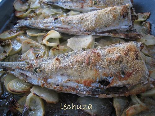 Chicharros-Jureles al horno-horneados