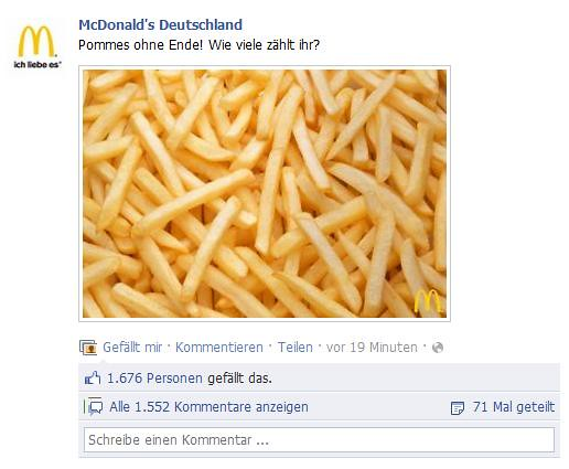 Postings, I like ☛ Pommes zählen