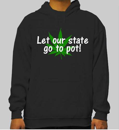 legalize marijuana pot hoodie