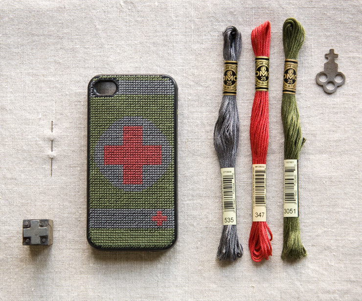 DIY iphone Cross Stitch Case