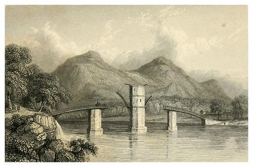 002-Antiguo puente de Tweed-Monastery-Finden's landscape illustrations of the Waverley novels.. 1834-varios artistas